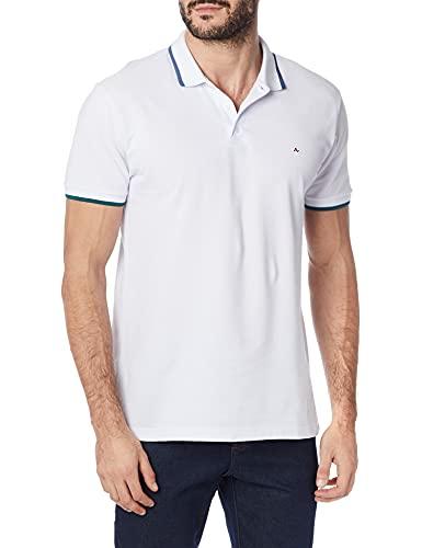 Camisa polo Classic, Aramis, Masculino, Branco C/ Petróleo, G