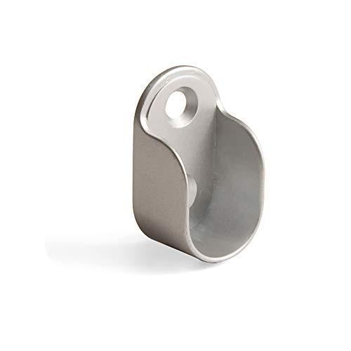 Emuca 7062425 Seitliche Stütze für ovale Kleiderschrank Stange, Zamak, 50 Stück, Metallisch Grau