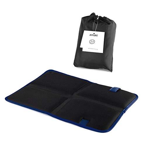 Outdoor Sitzkissen | Thermo Sitzkissen mit praktischer Tasche | Alu Isomatte, Faltbar, Leicht, klein, Isoliert, gepolsterte Sitzunterlage für unterwegs, Camping und Wandern, oder als Stadion Kissen