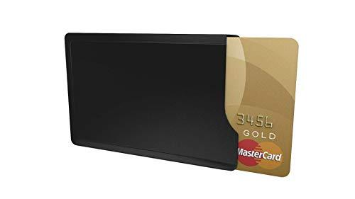 Kartenschutzhülle CardTresor Casual Edelstahl, schwarz matt, RFID/NFC-Schutz