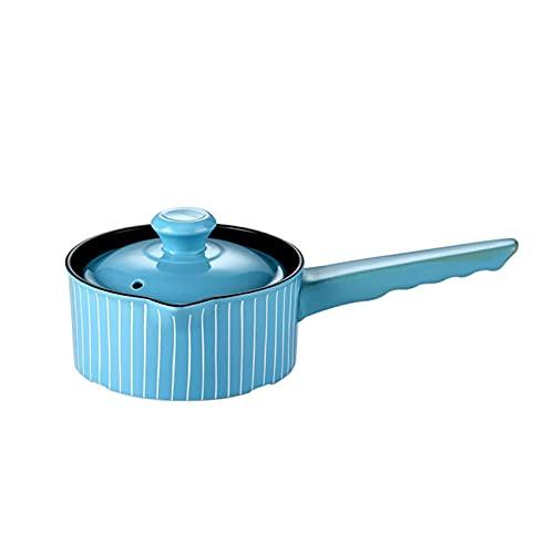 Cazuela Casserole de cerámica Gasero de gas Cocina Cacerola Multifuncional Milk Pot Suministros de Cocina (Color : 1L)