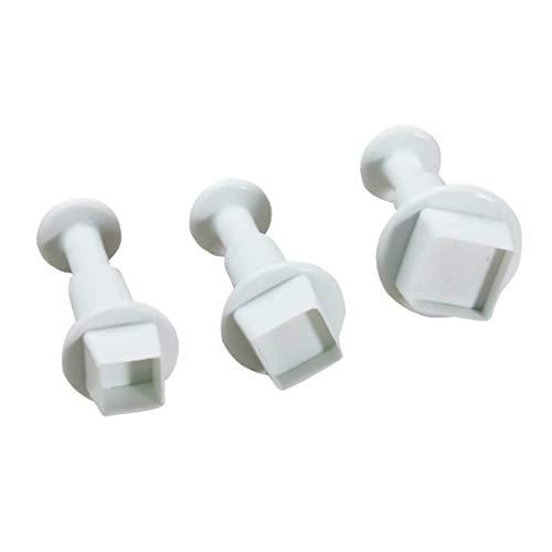 Romote 3PCS / lot forme carrée Moule Cutter Fondant outil de décoration de gâteau biscuit sucre Artisanat