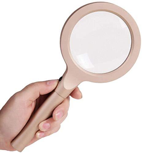 Syxfckc Lupe 12 LED-Licht 10X Minitaschen-Mikroskop-Vergrößerungshandleselupe Schmuck Top-Qualität günstiger Preis Lesewerkzeug
