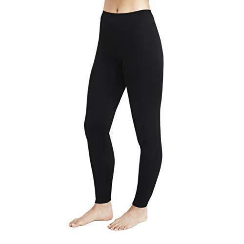 Cuddl Duds Women's Softwear with Stretch Legging, Black, Large