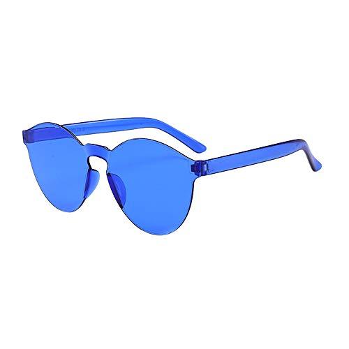 Lazzboy Frauen Männer Mode Klar Retro Sonnenbrillen Outdoor Rahmenlose Brillen Vintage Polarisierte Sonnenbrille Für Damen Herren Schutz Ultraleicht Rahmen(F)