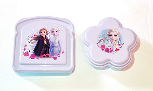 Light Blue and Light Purple Sandwich and Snack Containers Frozen 2 Lunch Box Kit (Bundle 2)
