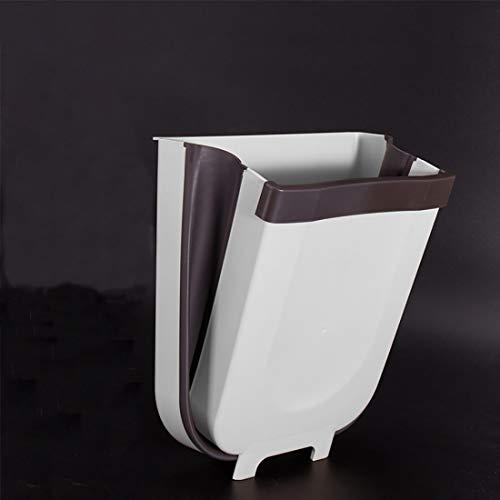 MIARORN Cubo de basura plegable de 9 L pequeño y compacto armario de cocina fijo fijo