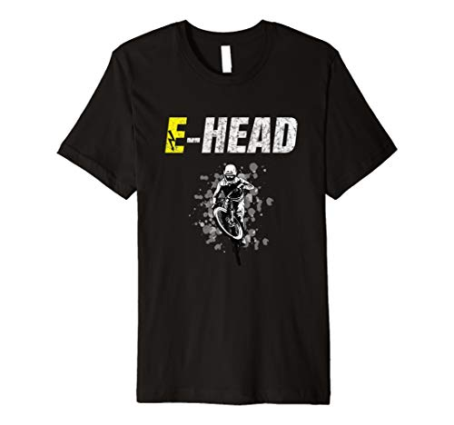 E-Head Ebike Pedelec Electric Battery Bike EMTB cycle Premium T-Shirt