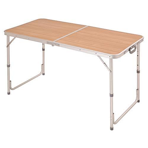 コーナン オリジナル 高さ調整機能付 アルミ フォールディング テーブル 約幅1200x奥行600x高さ550/650/7...