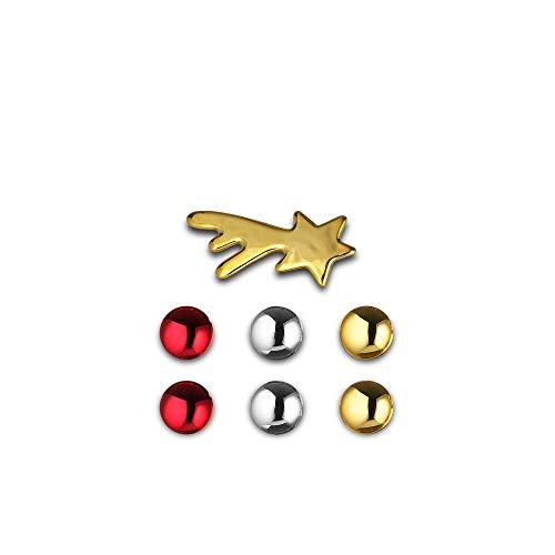 Alessi Bark for Christmas Magneten Set, Mehrfarben, One Size