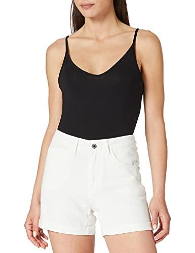Vero Moda VMNINETEEN HR Loose Shorts Mix Noos Pantalones Cortos de Jean, Cloud Dancer, XL para Mujer