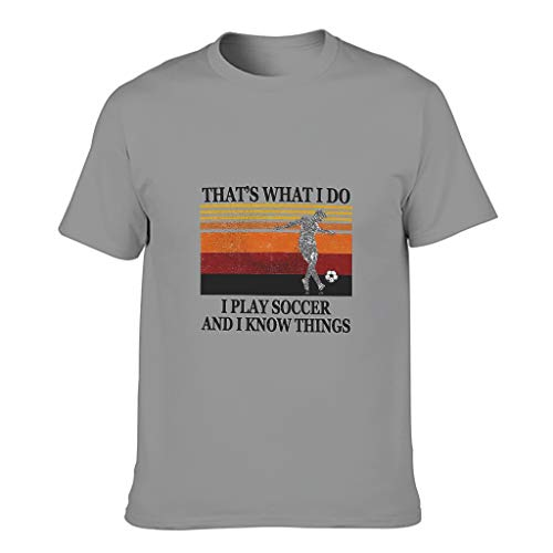 Relaxident Camiseta de algodón para hombre, diseño de alfabeto y manga corta