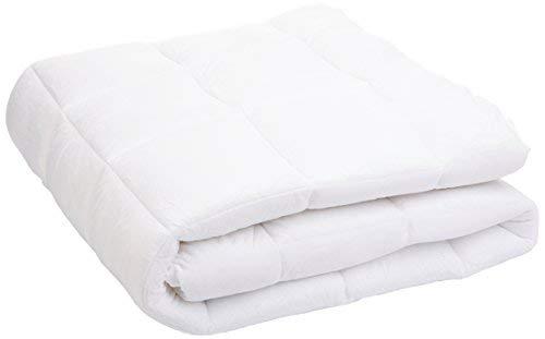 AmazonBasics Extra Soft Mattress Topper, Polyester, White, 90 x 190 cm