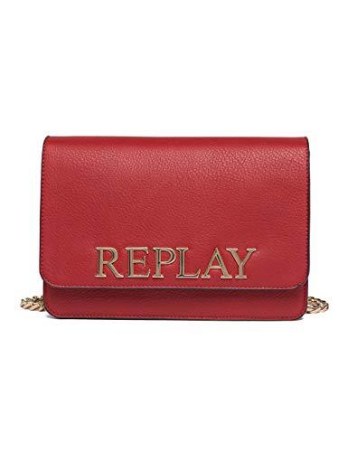 Replay Damen Fw3788.000.a0132d Umhängetasche, Rot (Gloss Red), 7x17x25 cm