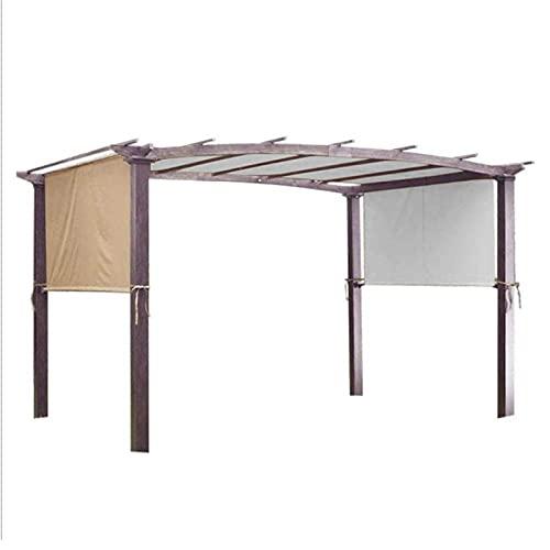 BestSiller Toldo de 5,2 x 2 m, parasol rectangular, toldo de repuesto resistente y duradero para estructuras de pérgola, solo sin estantes