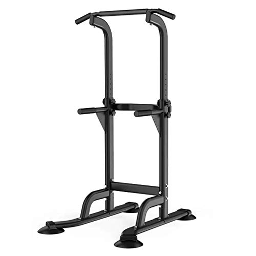 Product Image 1: Fitness equipment Pull-up Bars Free Standing Stand Dip Station Power Tower Pull-up Bar Strength Training for Home Gym 990 Weight Capacity (Size : A-Black)