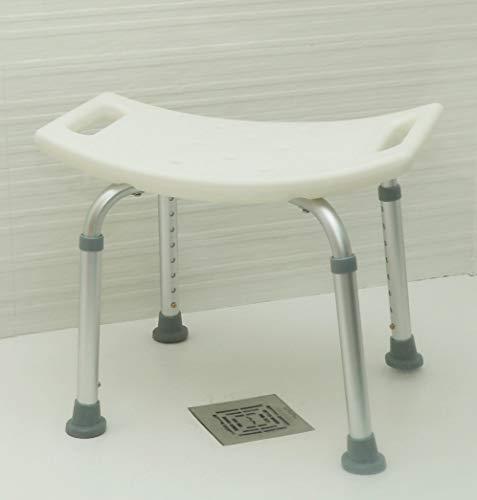 OrtoPrime Taburete de Ducha Antideslizante - Asiento de Baño Ortopédico Regulable en Altura 8 Posiciones - Taburete Baño para Adultos y Niños - Banqueta Ducha