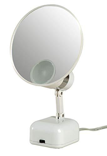 "Floxite 5"" Magnifying Mirror LED Lighting 10X, FL-510-2"