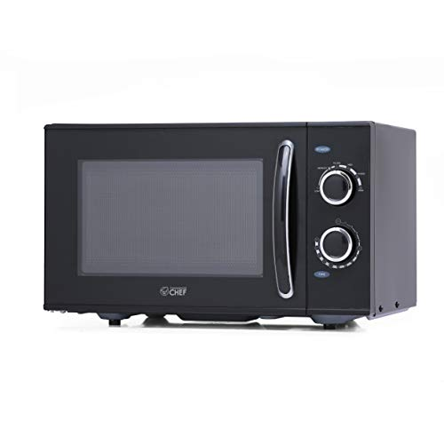 Commercial Chef Counter Top Rotary Microwave Oven 0.9 Cubic Feet, 900 Watt, Black, CHMH900B