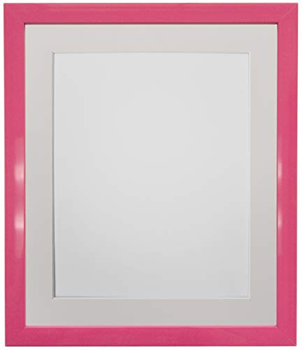 FRAMES BY POST Cornice per Foto da 0,75 Pollici, con passepartout Color, Formato A4, 14 x 11 cm, Supporto Avorio, 14 x 11 inch Image Size