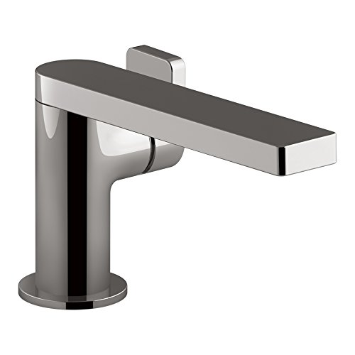 KOHLER Composed K-73167-4-TT Einhandmischer für Waschbecken mit Metallablauf, Titan