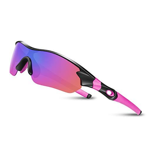 Bea CooL Gafas De Sol Polarizadas UV400, Gafas para MTB Bicicleta Montaña 100% De Protección UV (Rosa)