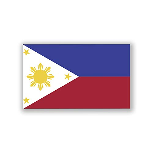 JMM Industries Philippine Flag Vinyl Decal Sticker Pinoy Pilipinas Filippino Filipina Car Window Bumper 2-Pack 5-Inches by 3-Inches Premium Quality UV-Resistant Laminate PDS510