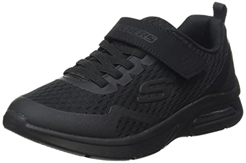 Skechers Jungen MICROSPEC MAX TORVIX Sneaker, Black White Sole, 36 EU