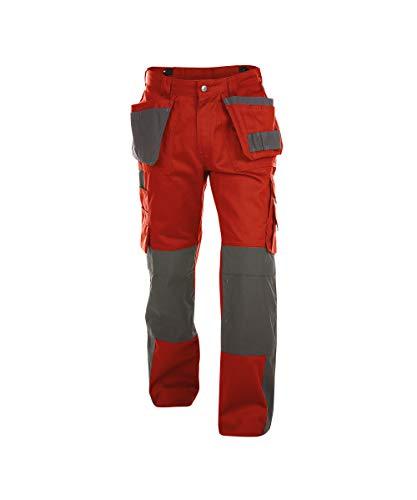 DASSY® Seattle Zweifarbige Multitaschen-Bundhose mit Kniepolstertaschen DASSY CLASSIC PESCO 64 ROT/ZEMENTGRAU 58