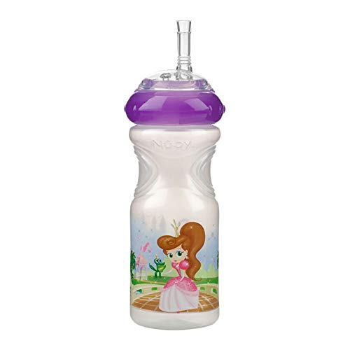 2 x Nuby 300ml Sports Sipper, Non Spill, Soft Leakproof Spout & BPA Free - Juice Drink Bottle, Beaker, Container for Toddlers, Children, Kids (9m+) (White + White)