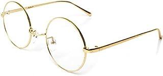 Metal Gold Frame Eyewear Round Retro Clear Lens Eyeglasses