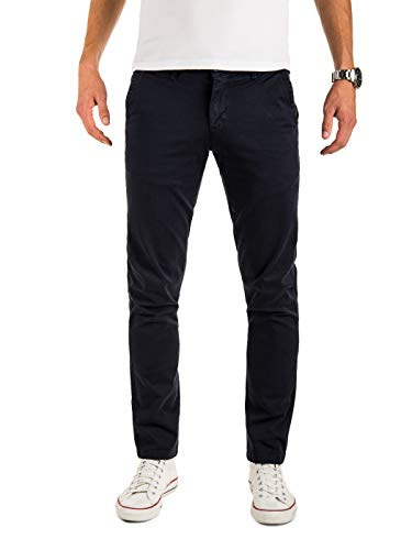Yazubi Herren Chinohose Regular Fit - Modell Malphite by Yzb Jeans - Chino Business - Blaue Chinohosen Stretch, Blau (Sky Captain 193922), W31/L32