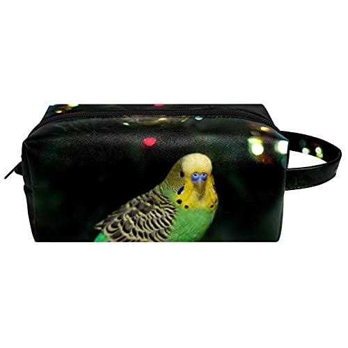 Make Up Tasche Kulturbeutel Tragbar Reise Schminktasche Kosmetiktasche Mit wasserbeständig und strapazierfähigem Schöner Papagei 21x8x9 cm