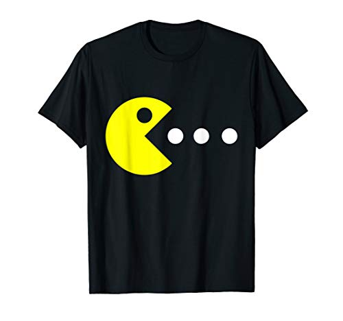 Pac-Man Costume T-shirt, Many Colors for Men, Women and Child, Up to 3XL