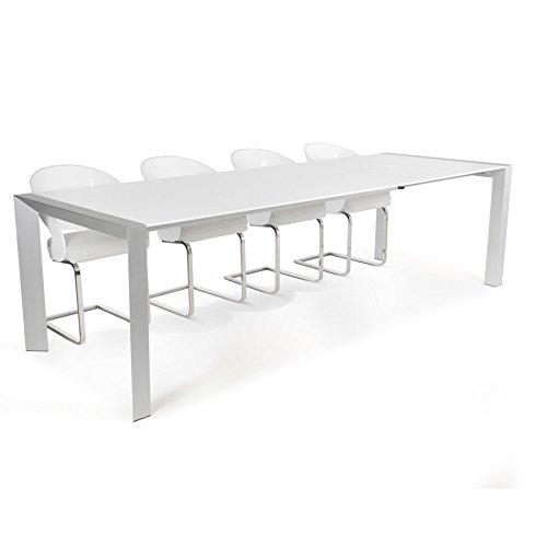 Alterego - Table à dîner extensible 'TITAN' design blanche - 190(270) x95 cm