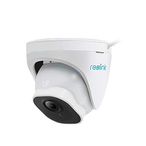 Reolink 5MP PoE Cámara de Seguridad Exterior con Detección de Personas/Vehículos, IP Domo Cámara de Vigilancia IP66 Impermeable, Grabación de Audio, con Ranura para Tarjeta SD RLC-520A