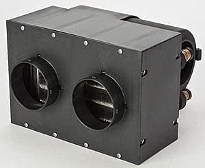 JEGS Auxiliary Heater Assembly | 260 CFM Airflow | 28,000 BTU of Heat | Mountable Switch | Dual Front Vents | 3-Speed Fan | 12-Volt | Compact Design: image
