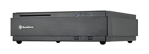 SilverStone SST-ML07B - Milo Mini-ITX schmales HTPC Desktop Gehäuse, schwarz