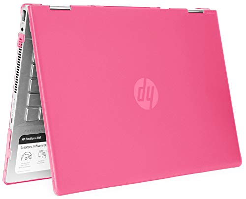"mCover - Carcasa rígida para portátiles HP Pavilion X360 14-CDxxxx / 14-DDxxxx Series Convertible 2 en 1 (14"" HP Pavilion X360 14-CD/DD Series, Rosa)"