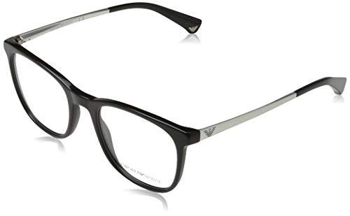 Emporio Armani Damen 0EA3153 Brillengestelle, Schwarz (Black), 51