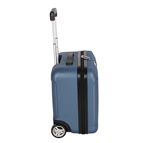 Ciao Designer Underseat Luggage Collection - 15 Inch Hardside Carry On Suitcase for Men & Women- Lightweight Under Seat Bag with 2-Rolling Spinner Wheels (Sky Blue)