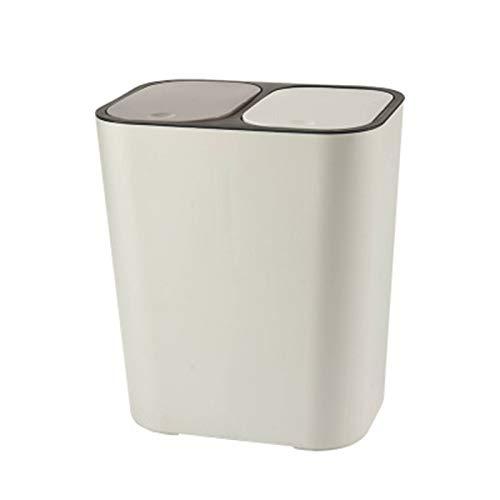 kangOnline Papelera de Reciclaje con Doble Compartimiento de 12 litros, Cubo de...