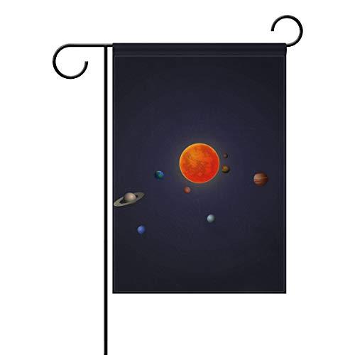Eslifey Elegante Solar-Flagge, doppelseitig, Familienflagge aus Polyester, für den Außenbereich, Party, Deko, Gartenflagge, 30,5 x 45,7 cm, Polyester, Multi, 12x18(in)
