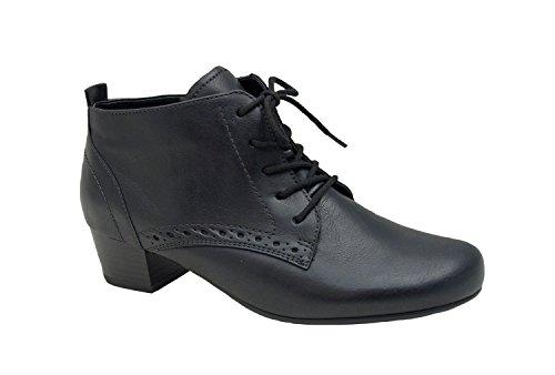 Jenny Damen Stiefelette 36 37 38 39 40 41 schwarz Catania Leder, Farben:schwarz, Damen Größen:4