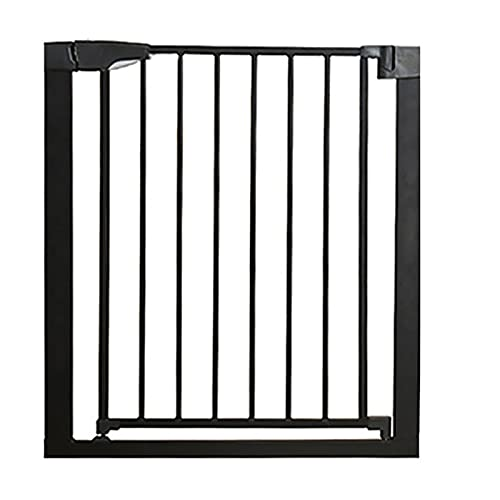 Baby Safety Gate, Flat Step Practical Safety Metal Gate, Safety Gate Auto-Close, Pressure Fit Stair Gates, Ideal for Kids and Pets, Black(Size:61-68cm)