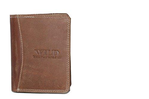 Herren Geldbörse rustikal Rindleder Wild Things (BI-COLOUR-QUER FOMAT)
