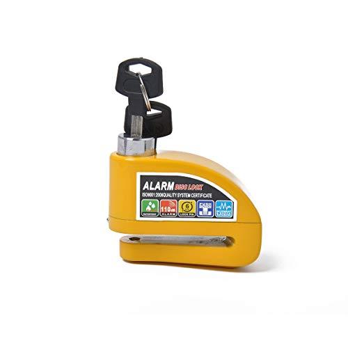 Cilindro de la cerradura Dispositivo de seguridad de bloqueo de freno de ruleta antirrobo especial para vehículo, adecuado para motocicletas, scooter, bicicleta (Color : Yellow)