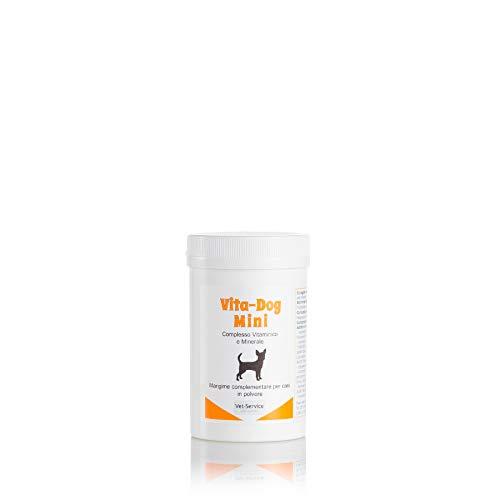 Vita-Dog Mini, conf. 120 gr - Complesso Vitaminico e Minerale - Mangime complementare (Integratore) per per Cani di Taglia Piccola, in Polvere - Consigliato per integrare vitamine e sali minerali