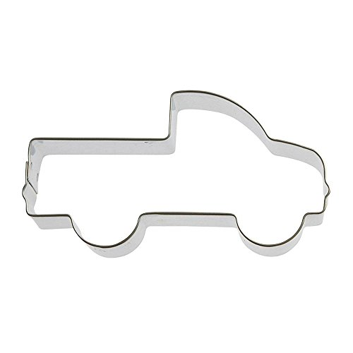 Pick Up Truck Cookie Cutter 4 in B1649 - Foose Cookie Cutters - USA Tin Plate Steel