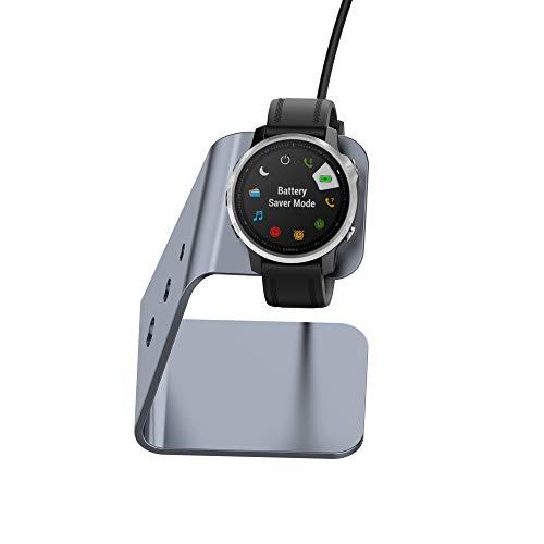 Bemodst compatibile con Garmin Vivoactive 3/Forerunner 945/245/935/Fenix 6,6S,6X, in lega di alluminio USB di sincronizzazione dati Dock Charger